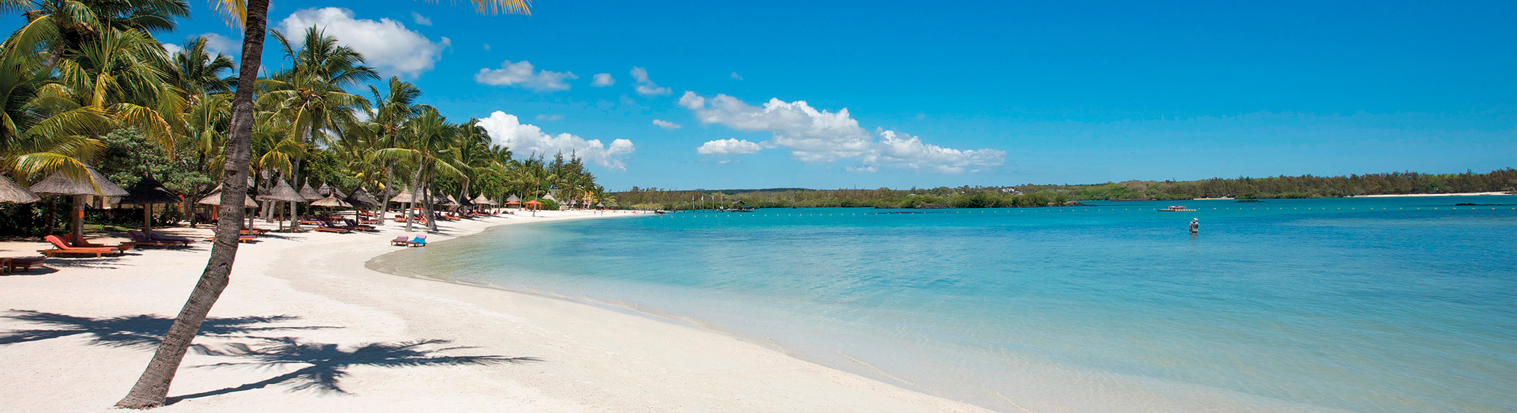 White sand beach at Constance Prince Maurice