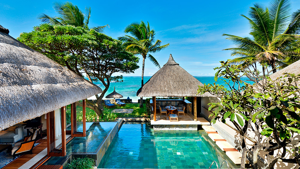 Private pool of the Beach Pool Villa at Constance Belle Mare Plage