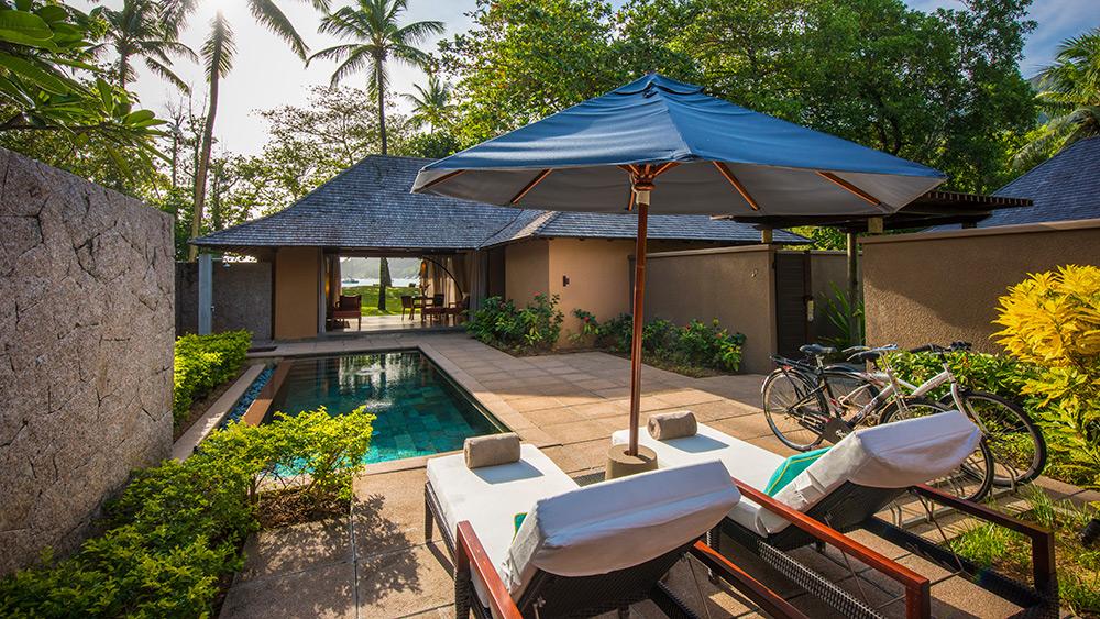 Private pool in the Beach Villa at Constance Ephelia