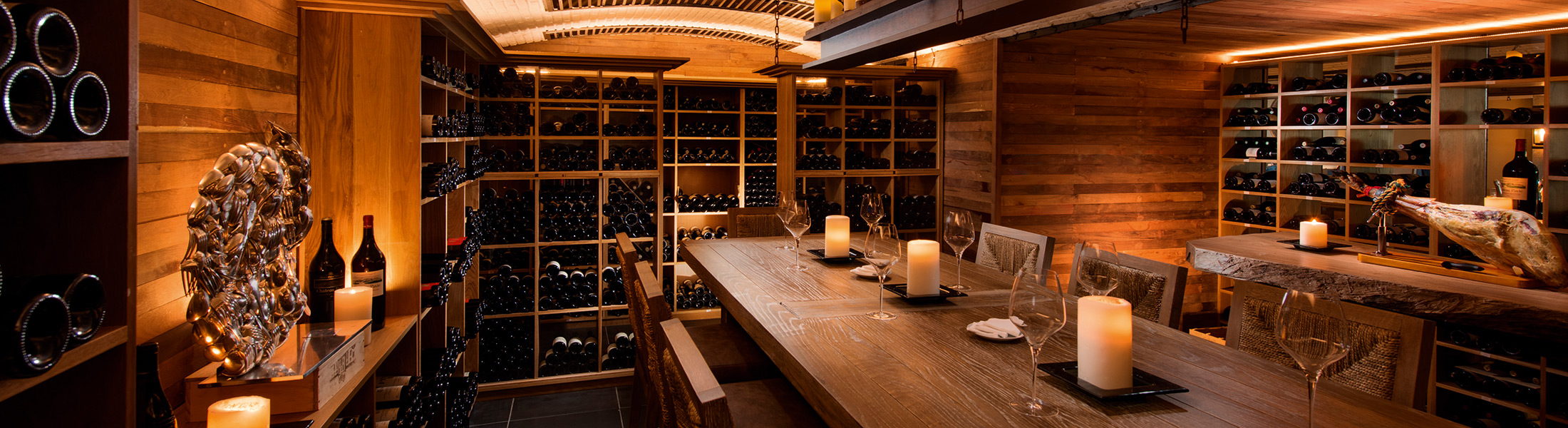 Wine room at Blue Penny Cellar at Constance Belle Mare Plage