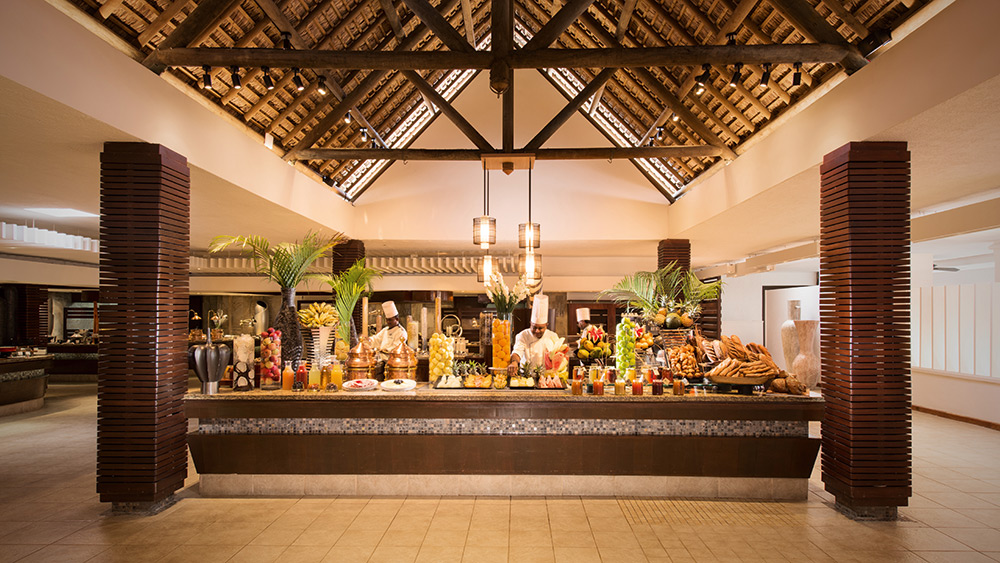 Buffet in Citronelle Restaurant at Constance Belle Mare Plage