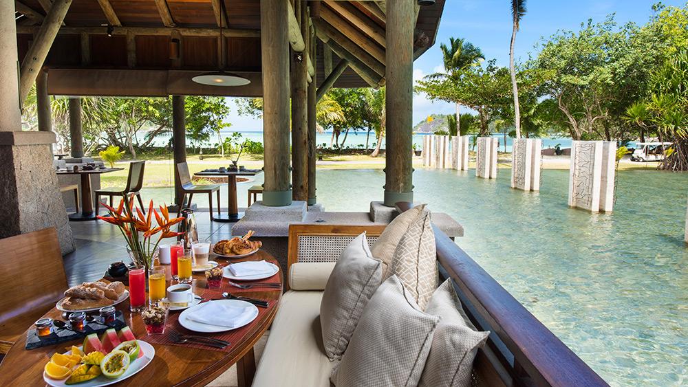 Restaurant overlooking the pool at Constance Ephelia
