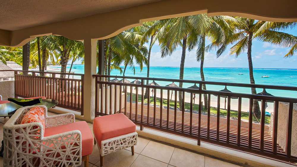 Balcony of the Deluxe Suite at Constance Belle Mare Plage