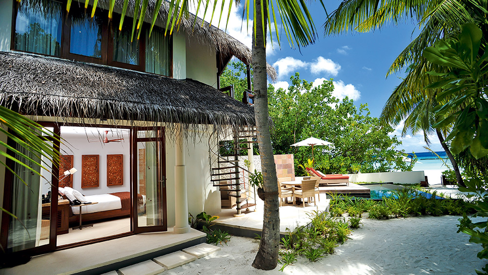 Exterior of the Double Story Beach Villa at Constance Halaveli