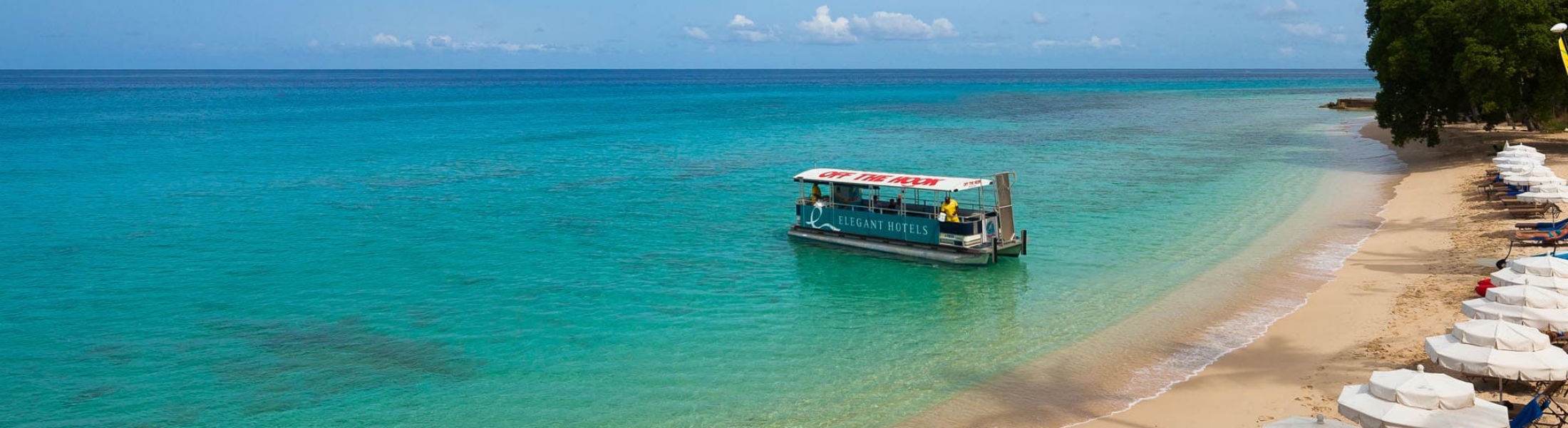 Elegant water taxi at the Waves Hotel & Spa by Elegant Hotels