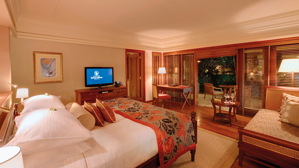 Master bedroom of the Family Suite at Constance Prince Maurice