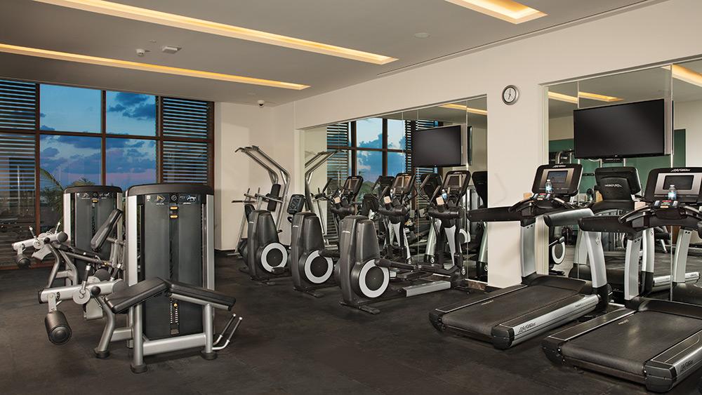 Fitness centre at Dreams Playa Mujeres
