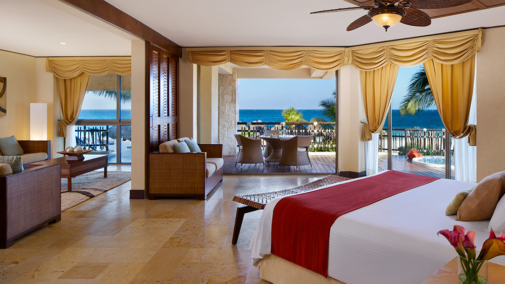 Bedroom of the Governors Suite at Dreams Riviera Cancun
