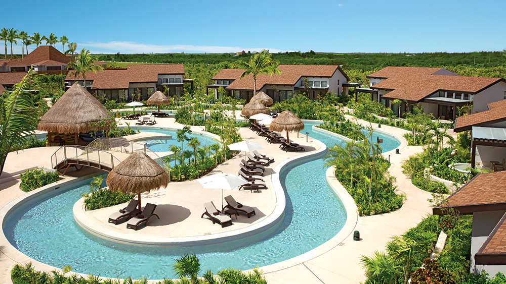 Lazy river around the Family villas at Dreams Playa Mujeres