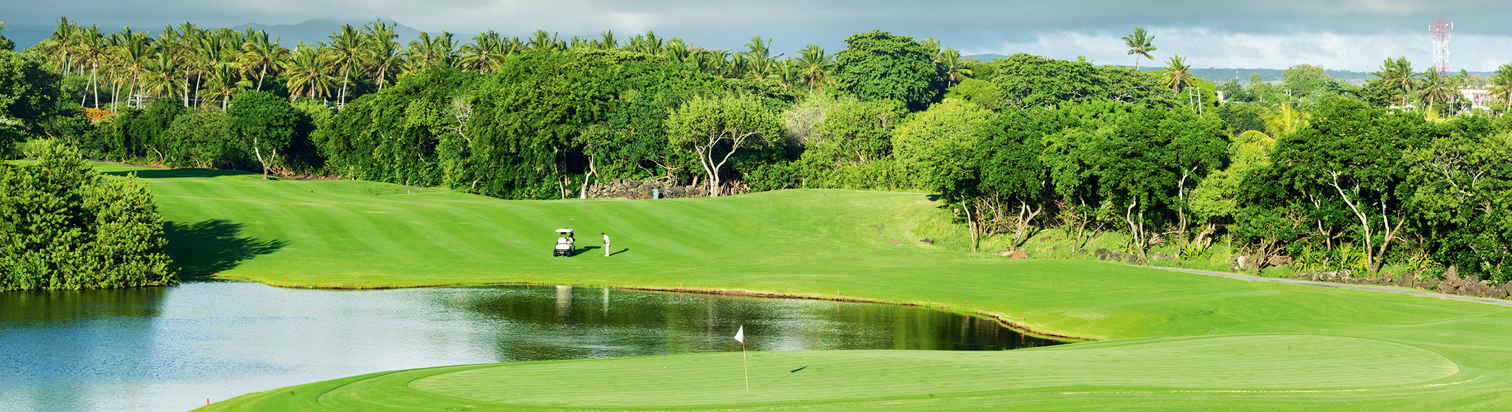 Man playing golf at Links Golf Course at Constance Prince Maurice