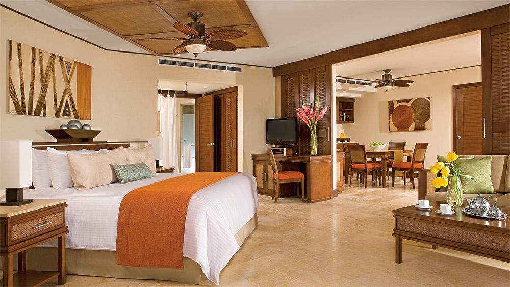 Bedroom of the Master Suite at Dreams Riviera Cancun