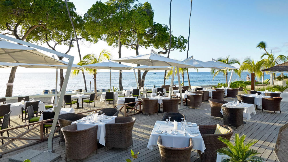 Ocean front restaurant at the Tamarind by Elegant Hotels