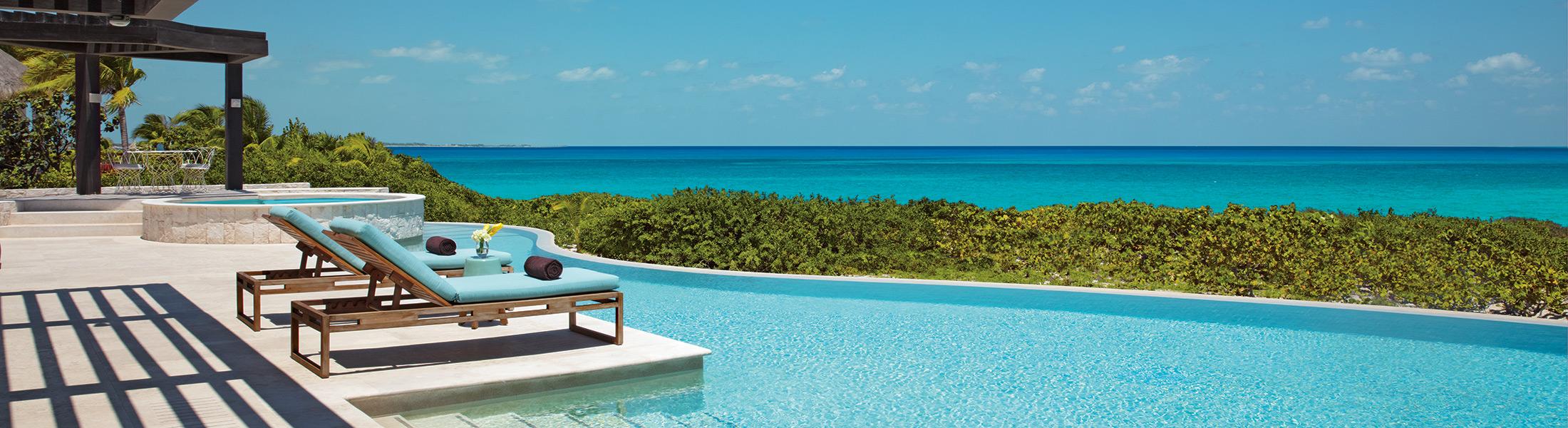 Presidential Suite private pool at Dreams Playa Mujeres