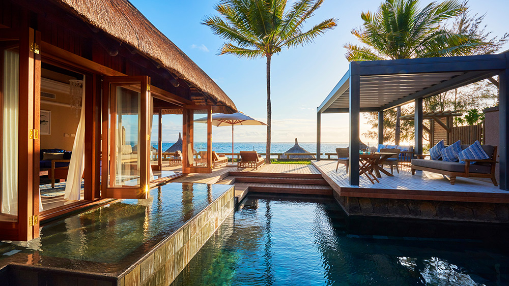 Private pool of the Presidential Villa at Constance Belle Mare Plage