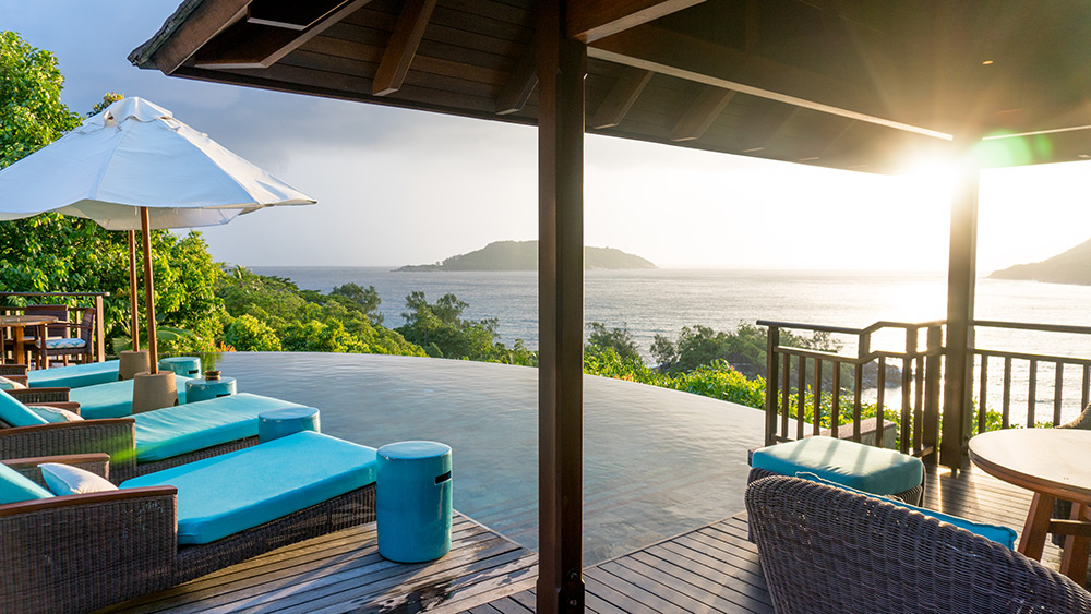 Private infinity pool in the Presidential Villa at Constance Ephelia