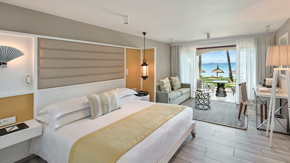 Bedroom of the Prestige Room at Constance Belle Mare Plage