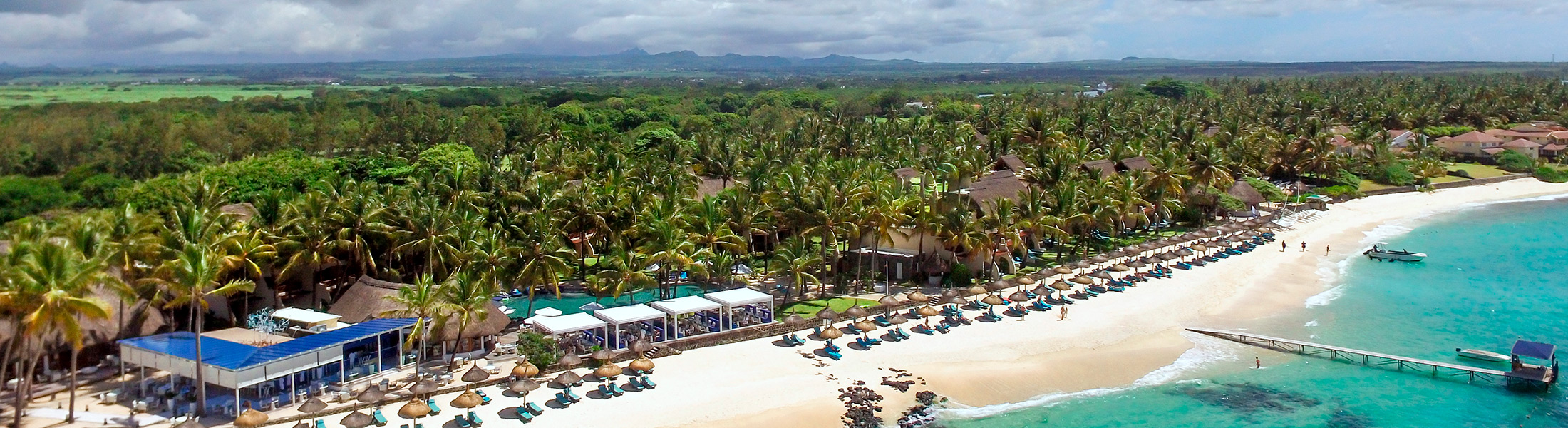 Aerial view of Constance Belle Mare Plage