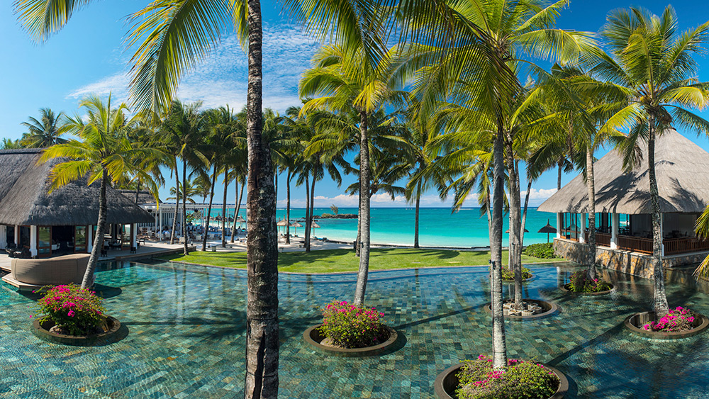 Tropical gardens at Constance Belle Mare Plage