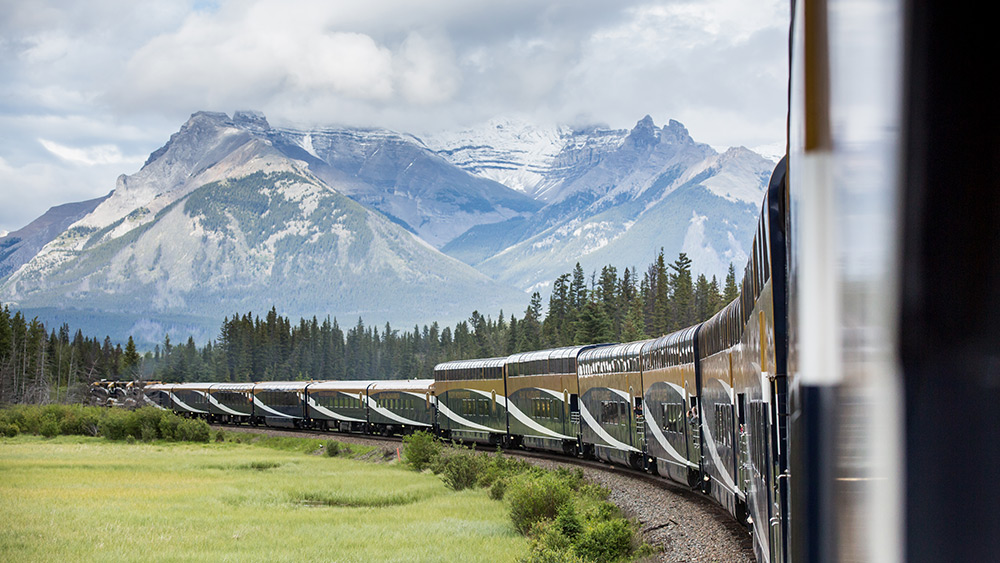 View of the Rocky Mountains from the Rocky Mountaineer