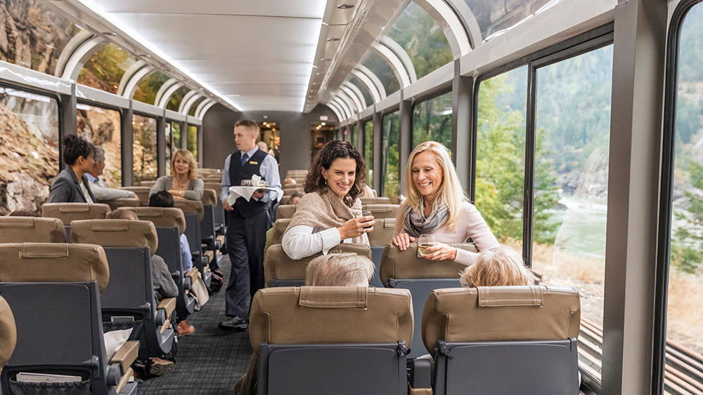 Onboard the Rocky Mountaineer