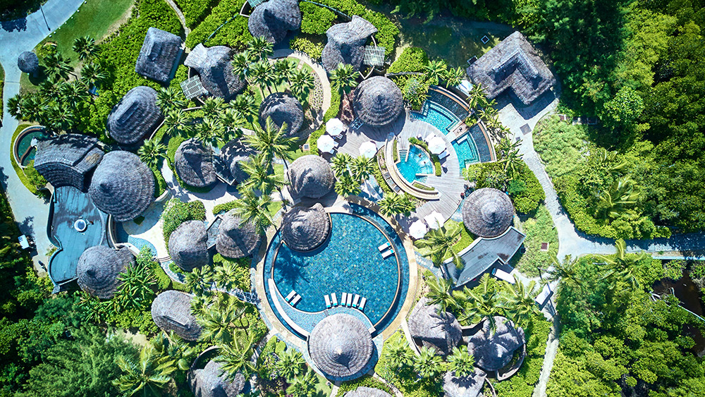 Aerial view of the U Spa at Constance Ephelia