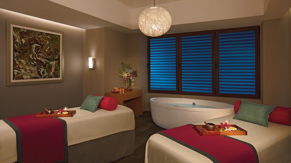 Treatment room at the spa at Dreams Playa Mujeres