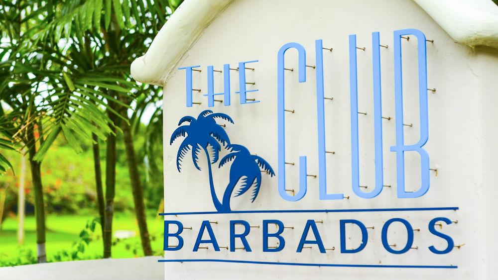 The Club Barbados Main Sign at The Club Barbados Resort & Spa, Barbados