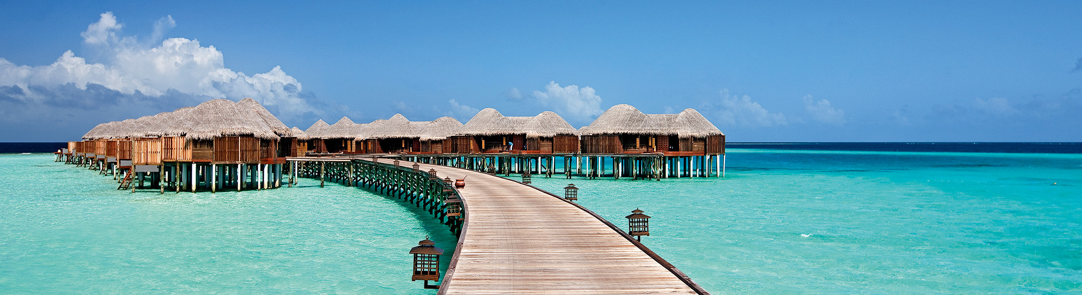 Jetty to the overwater villas at Constance Halaveli