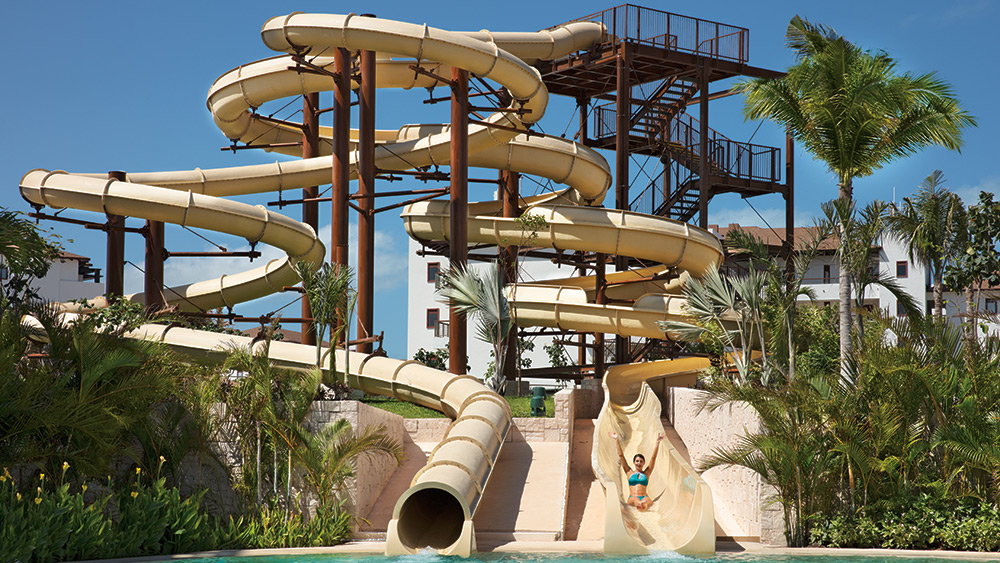 Water slide at Dreams Playa Mujeres