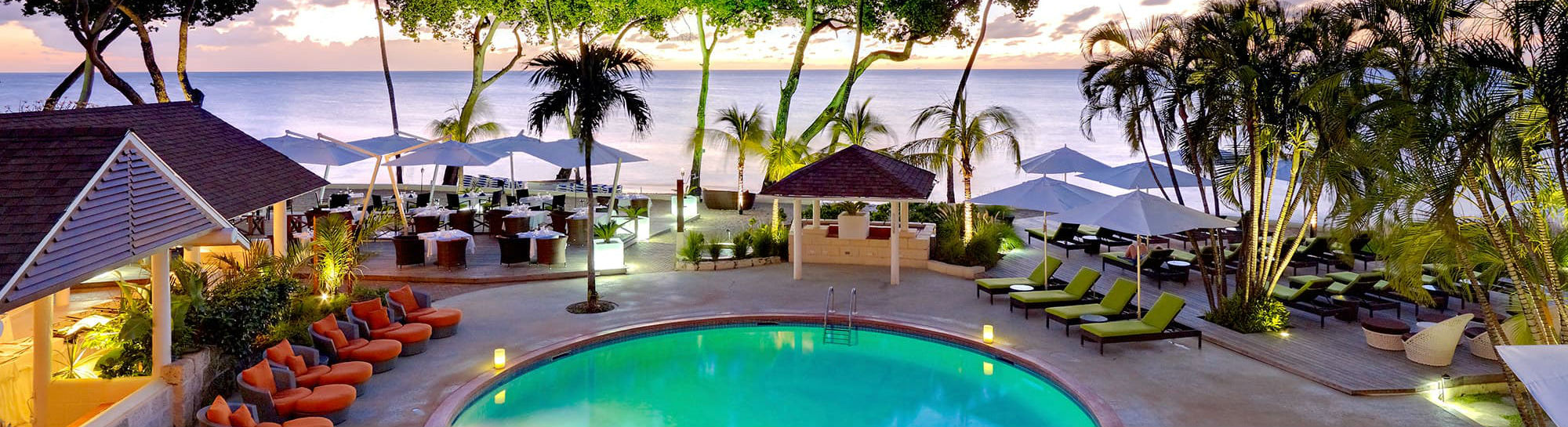 beach & swimming pool at the Tamarind by Elegant Hotels
