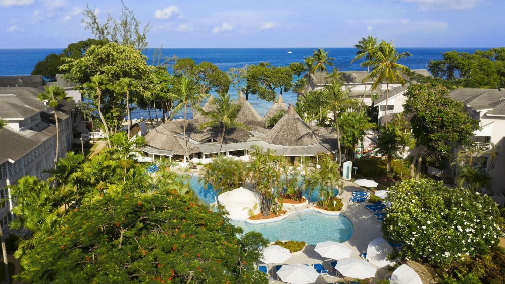 club aeria shot of the resort l and ocean at The Club Barbados Resort & Spa, Barbados