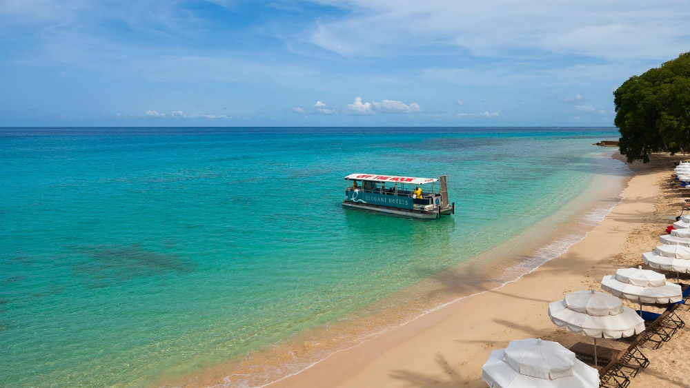 elegants water taxi at the Waves Hotel & Spa by Elegant Hotels