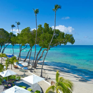 The main beach at the Tamarind by Elegant Hotels