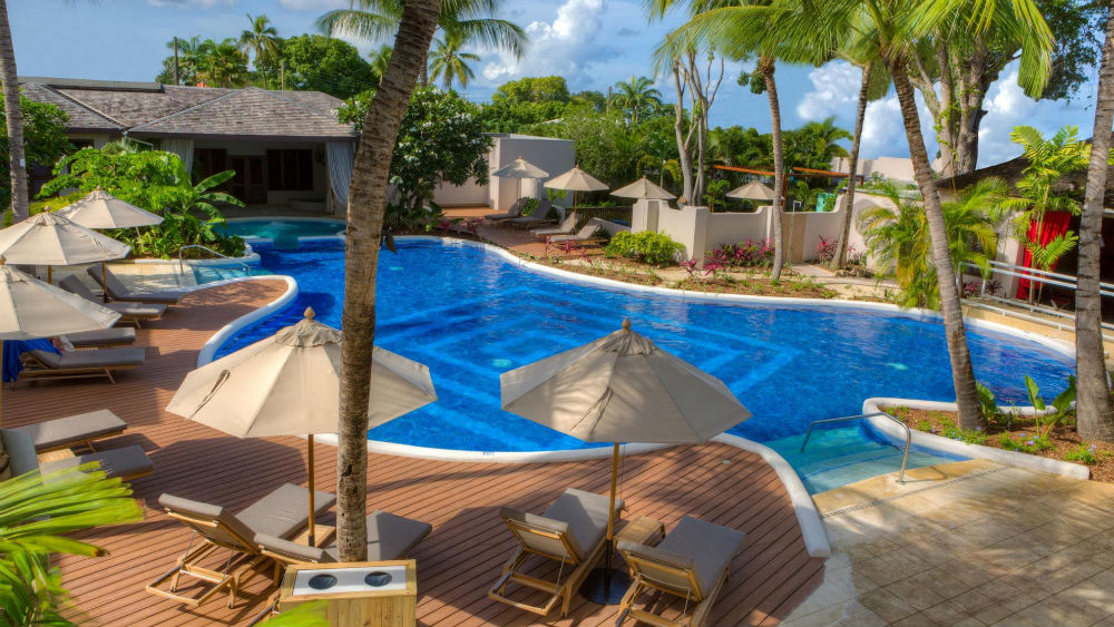 The main swimming pool at the Waves Hotel & Spa by Elegant Hotels
