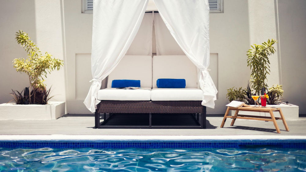 pool lounger at the Waves Hotel & Spa by Elegant Hotels