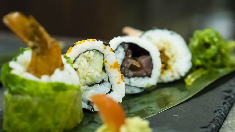 sushi at the Waves Hotel & Spa by Elegant Hotels
