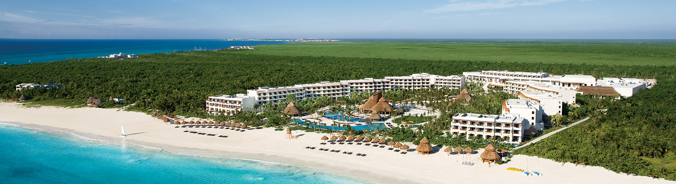 Aerial view of Secrets Maroma Beach Riviera