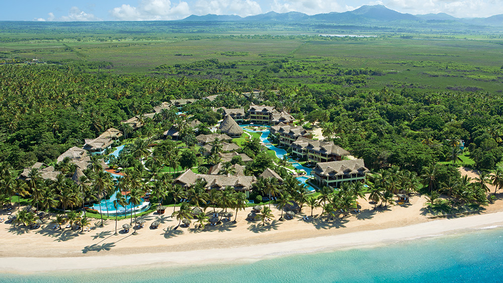 Aerial view of Zoetry Agua Punta Cana
