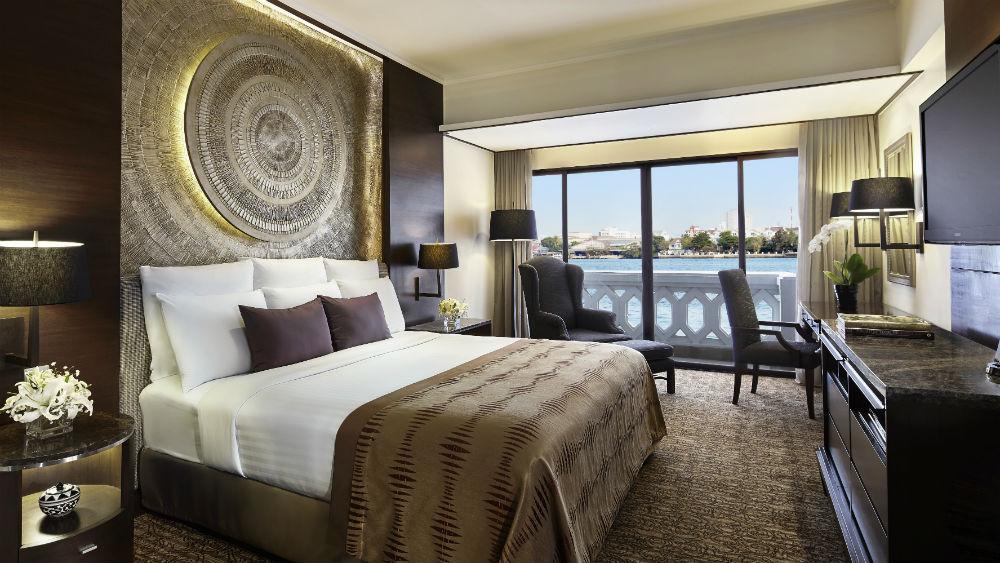 Anantara Riverfront Suite Bedroom at the Anantara Riverside Bangkok Resort