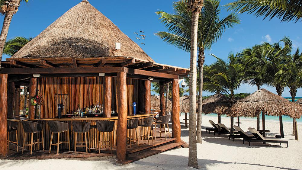 Barracuda Bar on the beach at Secrets Akumal