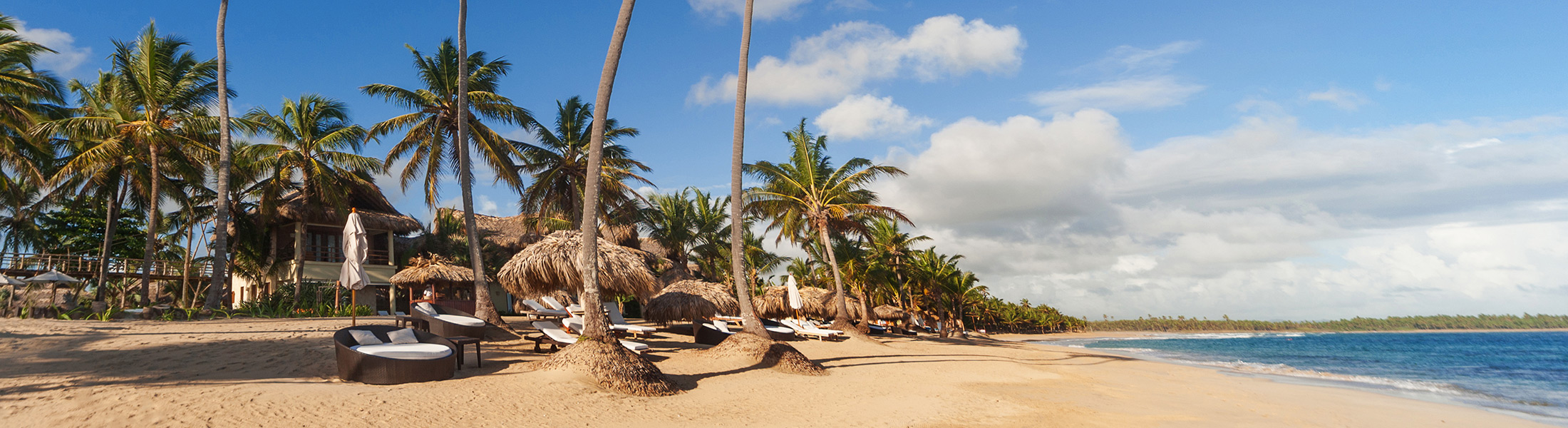 Beach with sun loungers at Zoetry Agua Punta Cana