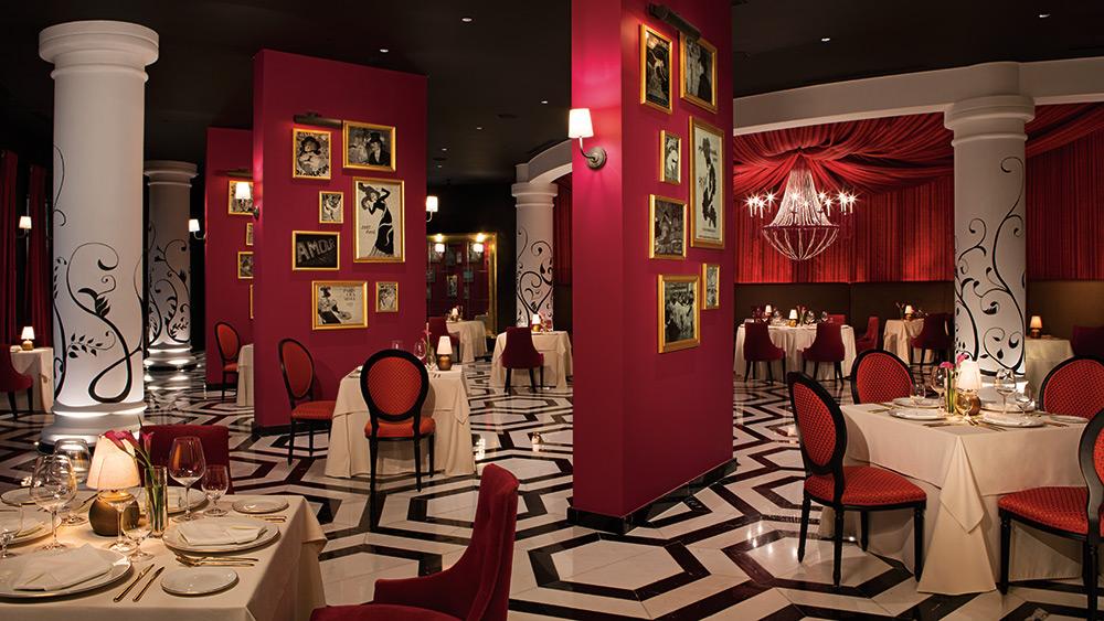 Dining area of Bordeaux Restaurant at Secrets Akumal