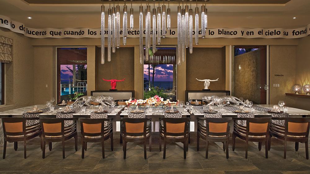 Impressions Chef's Table restaurant at Zoetry Paraiso de la Bonita