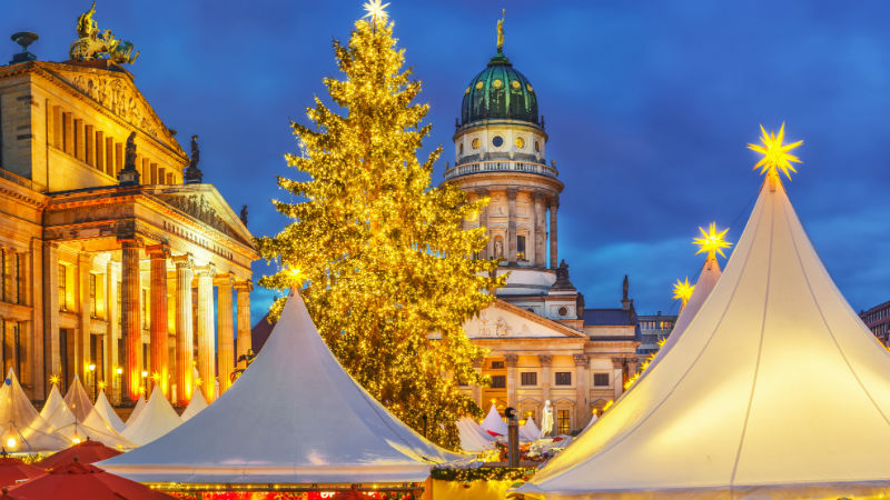 Christmas market French church and konzerthaus in Berlin