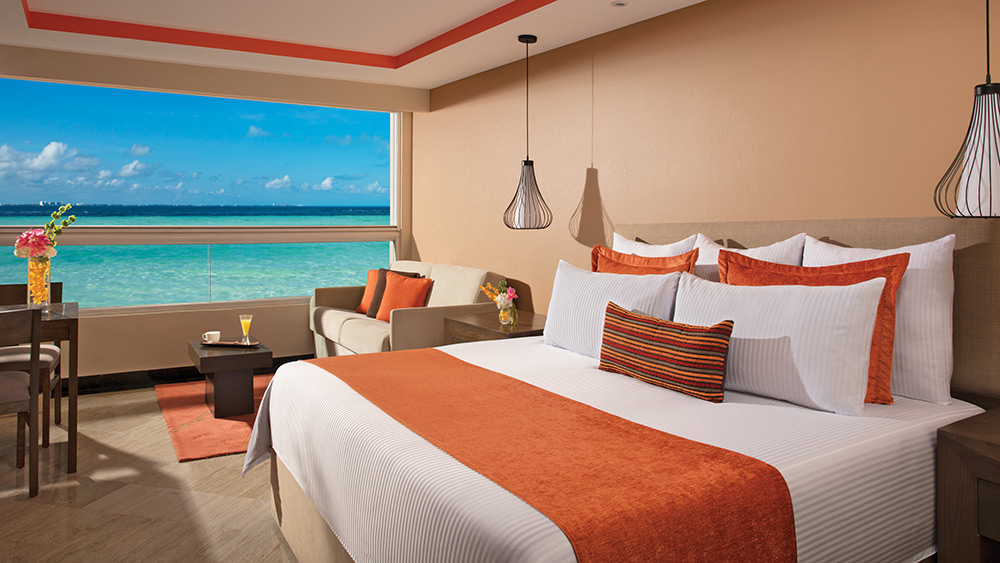 Bedroom of the Family Room at Dreams Sands Cancun