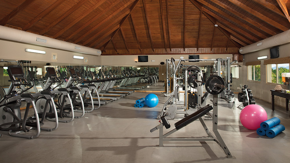 Fitness equipment at Dreams Punta Cana