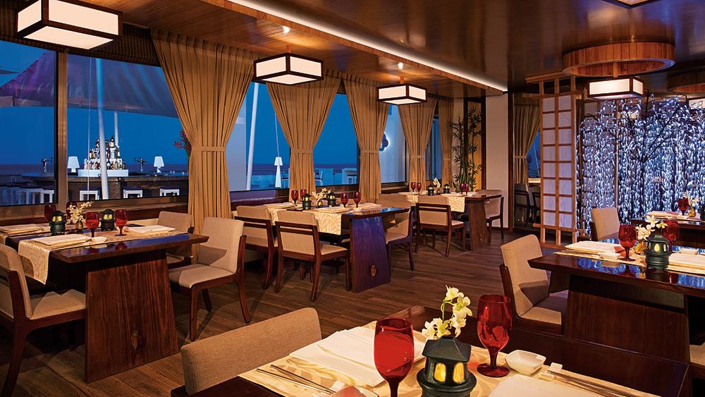 Dining area of Gohan Restaurant at Secrets Aura Cozumel