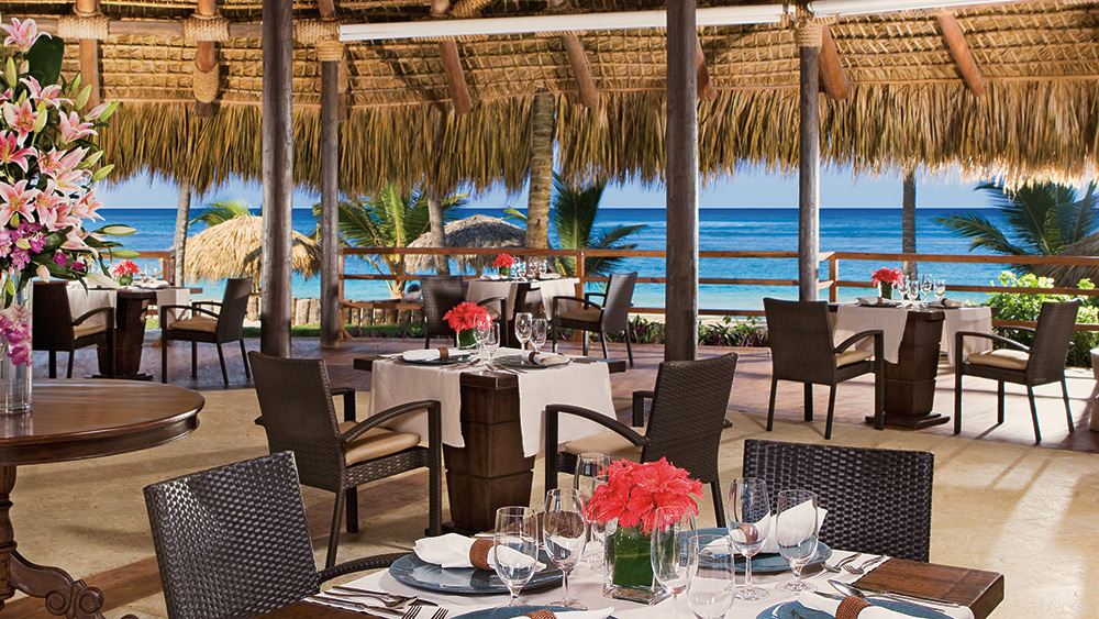 open air dining in Indigo Restaurant at Zoetry Agua Punta Cana