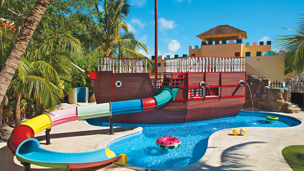 Water slide in the kids club at Dreams Punta Cana