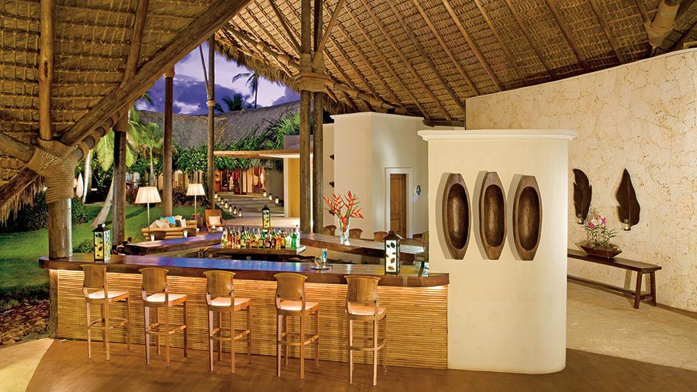 The lobby bar at Zoetry Agua Punta Cana